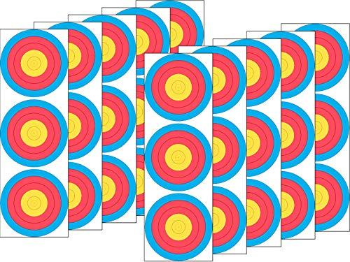JVD 10er Set 3x20 Spot FITA WA Papierauflage Scheibenauflage Zielscheibe - Wa Spot