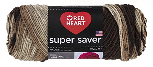 Red Heart Super Saver Garn, Almandine Druck Print - Platoon Camo -
