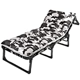 DAWN103 Schlingenstuhl Sun Lounger Recliner Chair & Recliner Multifunctional Reinforcement Folding Bed Office Single Bed Lunch Break Recliners Adult Siesta Bed Household Portable Simple Bed Style-2