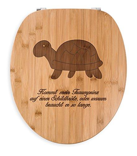 lettendeckel, Klodeckel, WC Sitz Schildkröte seitlich mit Spruch - Farbe ()
