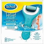 Scholl Velvet Smooth Pedi Wet & Dry Elektrischer Hornhautentferner, 1 Stück