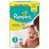 Pampers Premium Schutz Jumbo Pack, Größe 3–66Windeln