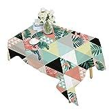 JEELINBORE Manteles de Mesa para Fiestas Decoración del hogar Mantel para Mesa de Cocina o Salón Monstera Lavable (Estilo 5-2, 140x140cm)