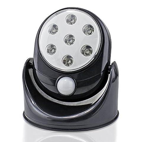 Wireless 7 LED Outdoor Indoor Motion Sensor Activé Lumière de sécurité Black Light 360 degrés de rotation jardin Sécurité