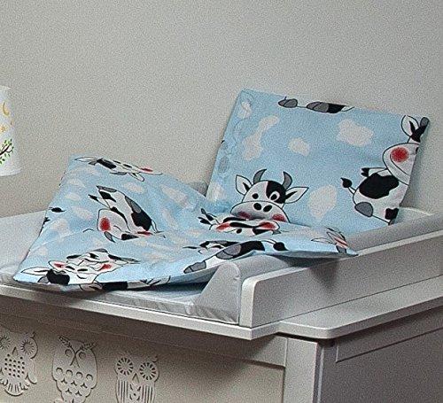 Velinda Bettwäscheset mit Decke 80x70 Bettzeug für Kinderwagen Stubenwagen Babywiege (Muster:...