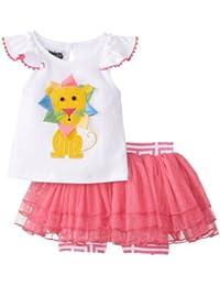 Mud Pie Baby-Girls Newborn Lion Skirt Set
