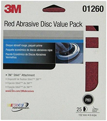 Preisvergleich Produktbild 15, 2 cm P80D PSA rot Scheiben Da 3 m-,  25 Scheiben pro Pack