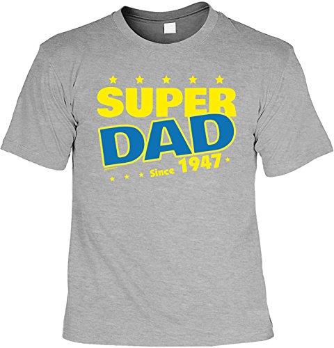 T-Shirt zum 70. Geburtstag Super Dad Since 1947 Geschenk zum 70 Geburtstag 70 Jahre Geburtstagsgeschenk 70-jähriger Dunkelgrau
