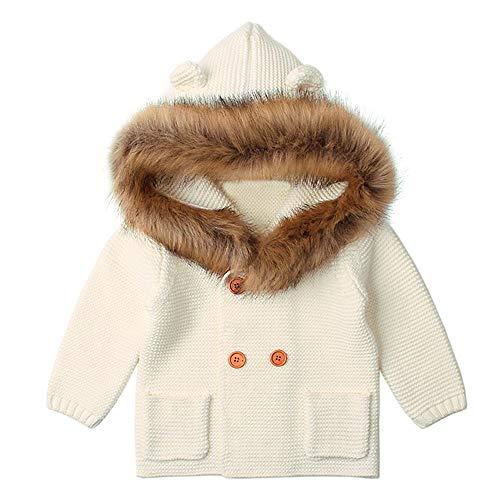 Yanhoo Kinderkleidung, Kindermode Unisex Baby Winter Kapuzen Kragen Gestrickte Jacke Warme Baumwolljacke der Kinder Fleecejacke Wintermantel