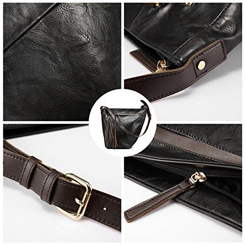 Eimer tasche für frauen handtasche crossbody tasche reisetasche multi pocket mit großer kapazität mit langen tassel Schwarz