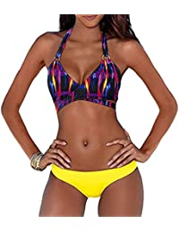 Leapparel Conjuntos de Bikini Mujer 2017 Refrescante Estilo Vendaje Push Up Comfy Bra Beachwear Traje de Baño trajes de 2 Piezas