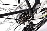 Adore Damen Alu City Pedelec Versailles E-Bike Weiß-Grün 250 Watt Li-Ion 36V/10,4 Ah 6 Gänge Fahrrad, Wei&AmpSzlig-Gr&AmpUumln, 28 -