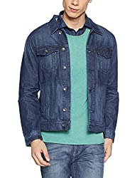 United Colors of Benetton Mens Cotton Jacket (8903975451971_17A2FSIC2001I901M_Blue)