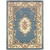 Estilo de loto itcentre Aubusson alfombras tradicionales 100% alfombra de lana, color azul, 60 x 120 cm