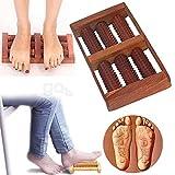 Regalo per Natale o Compleanno Massager di legno Rect Shap con 6 Roller, il sollievo dal dolore massaggiatore, rullo di legno Massager, Massager del corpo
