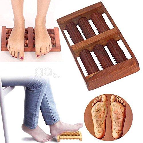 Cadeau de Noël ou d'anniversaire Rect Shap Massager en bois avec 6 rouleaux, soulagement de la douleur Masseur, rouleau en bois Massager, Massager Body, Cadeau pour Noël ou anniversaire