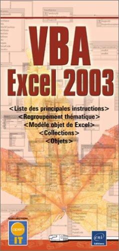 VBA Excel 2003