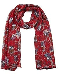 World of Shawls UK Seller!!! New Ladies Women's Owl on Branch Print Scarf Scarves Maxi Wrap Sarong shawl