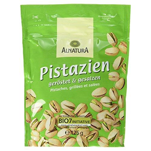 Preisvergleich Produktbild Alnatura Bio Pistazien,  geröstet und gesalzen,  vegan,  4er Pack (4 x 125 g)