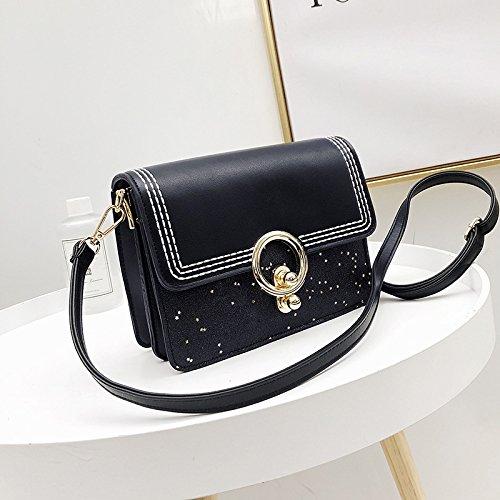 GUANGMING77 Messenger Bag _ Semplice Piccola Donna Messenger,Marrone black