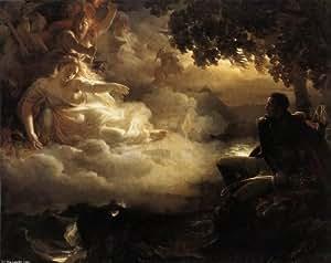 Peinture à l'huile encadrée - 16 x 13 inches / 41 x 33 CM - Jean Pierre Franque - Allégorie de l ...