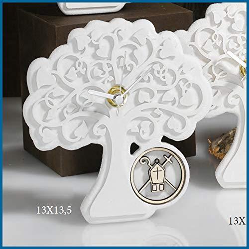 Bomboniere cresima orologio albero della vita con mitra cappello vescovo