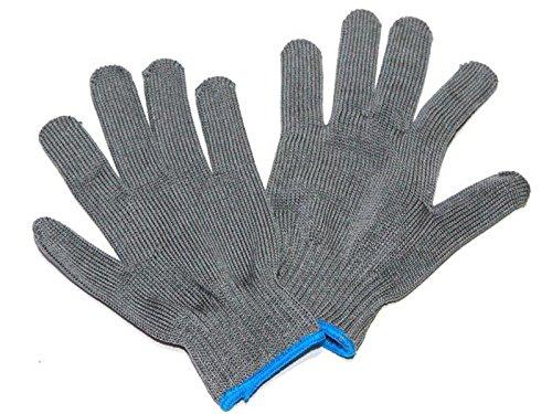 2er Set Apaja Filetierhandschuh, Anglerhandschuh, Nylon-Strick-Handschuh EN388 CE, Größe 9, Finnland
