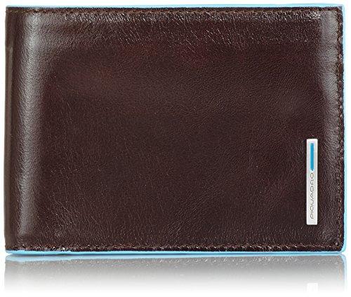 Piquadro PU1392B2 Portafoglio, Collezione Blu Square, Mogano