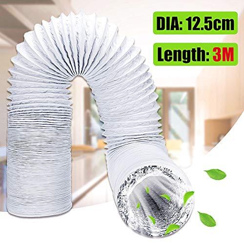Wnuanjun, Salida del conducto de la Manguera de ventilación del Tubo de Escape del acondicionador de Aire Flexible de 3 Metros 125 mm