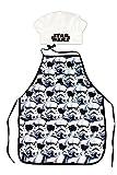 Star Wars Delantal y gorro para niños (poliéster, 3 a 8 años)