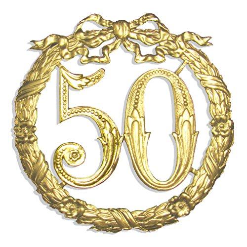 Kunze A014026501 Jubiläumszahl 50, Ø 24 cm, Gold (Dekorationen Bday 50)