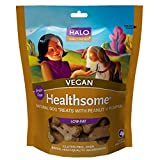 Halo Healthsome Holistic Grain Free Dog Treats, Peanut 'N Pumpkin, 8 OZ of Vegan Natural Dog Treats