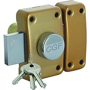 cogeferm - Verrou CGF ? bouton Mod?le - 13321X2 10020601 60mm S entrouvrant par 2 Bronz? or