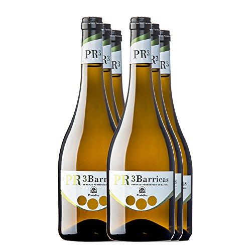 Pr3 Barricas - Vino Blanco - Verdejo - Rueda - Vino De Autor - 9 Meses En Barrica Y Sin Maloláctica - 6 Botellas De 0,75 L