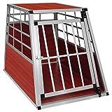 EUGAD Hundebox Transportbox Hundetransportbox Aluminium 1 Türig Reisebox Gitterbox Box 0043HT