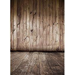 1.5*2.2m(150*220m)Tela pictórica Madera oscura textura vendimia Floordrop recién nacidos de fondo la fotografía vinilo delgada estudio fondo de la foto pared de madera personalizado D-5007