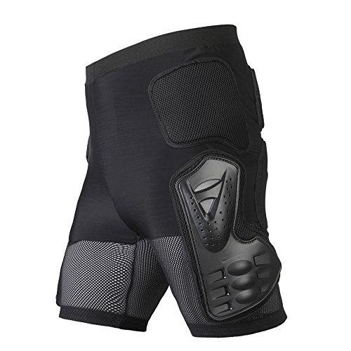 Docooler Ski Protektoren Kurze Hose/Schutz Shorts für Motorradfahren/Rennen, Snowboarden/Skaten, Material: PE&EVA&Spandex Gewebe