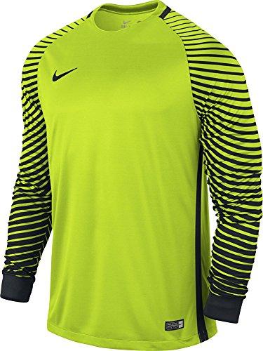 Nike Herren Torwarttrikot Gardien Goalkeeper LS Jersey, Volt/Black, S, 725882-702