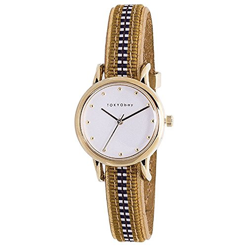 tokyobay-t623-gr-womens-stainless-steel-multicolored-leather-band-white-dial-smart-watch