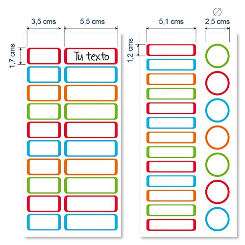 Etikids 40 Etichette termoadesive da STIRARE. Formati e colori vari, per contrassegnare indumenti, vestiti dei bambini a scuola ed asilo. (COLORS) - 5