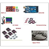 Vertex - 5X Nema 17 Motor +Ramps 1.4+12864 LCD+Arduino Mega 2560+Drv8825+Endstop (3D Printer Kit)