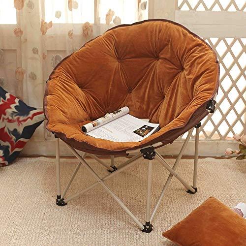 Chaise, maison extérieure grande adulte lune chaise chaise longue chaise paresseuse radar chaise inclinable chaise pliante chaise arrière chaise (Couleur : E)