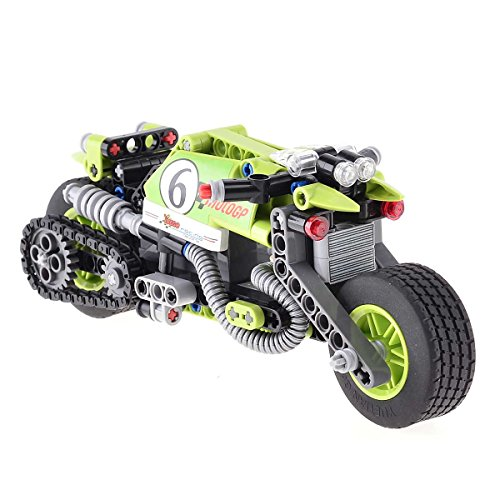 BIOZEA Inserting Toy Motorcycle Building Sets Stunt King ABS Plastic Blocks for Boy, 201pcs