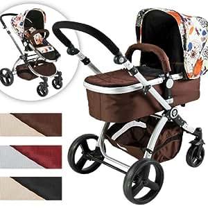 infantastic kbkw01happyflower kombi kinderwagen baby. Black Bedroom Furniture Sets. Home Design Ideas