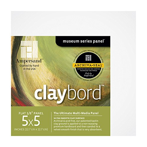 Ampersand Museum Series Claybord, 1/8 Inch 5X5 Pk/4 (Museum Board)
