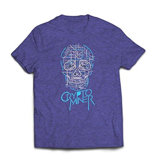 lepni.me Camisetas Hombre Crypto Miner - Cryptocurrency - Bitcoin Ethereum, Blockchain Mining Algorithms (Large Brezo Azul Multicolor)