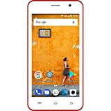 Konrow Smartphone débloqué 4G (Ecran : 4,5 Pouces - 8 Go - Double Micro-SIM - Android) Rouge