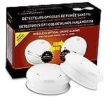 Housegard KD-101LF 601082-80 Kit de 2 Détecteurs de fumée communiquant