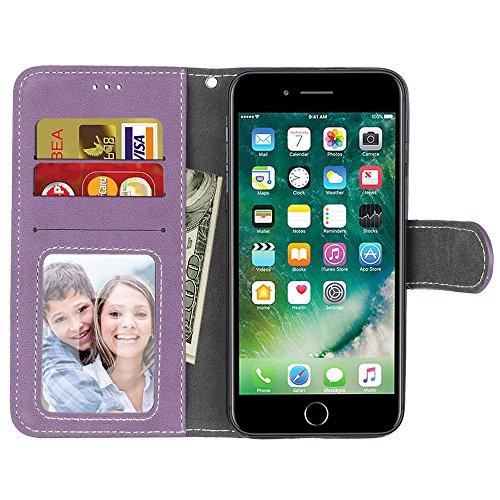 iPhone 7 (4,7 Zoll) Hülle, Cozy hut TPU Silikon Hybrid Handy Hülle Matte Series Case Durchsichtig Stoßfest Tasche Schutz Scratch-Resistant de protection Case Tasche Etui Shell für iPhone 7 (4,7 Zoll)  Lila scheuert