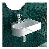 Design-Handwaschbecken aus Keramik als Hänge- und Aufsatzwaschbecken geeignet